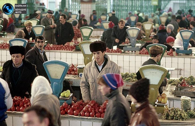 Tirgus paviljons PSRS laikos Autors: ghost07 Dzīve padomju savienībā (17 unikālas, krāsainas fotogrāfijas)