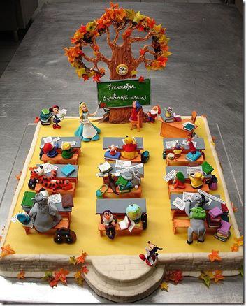 1septembris labdien bērni Autors: ieva5 Kreatīvas tortes no Krievzemes