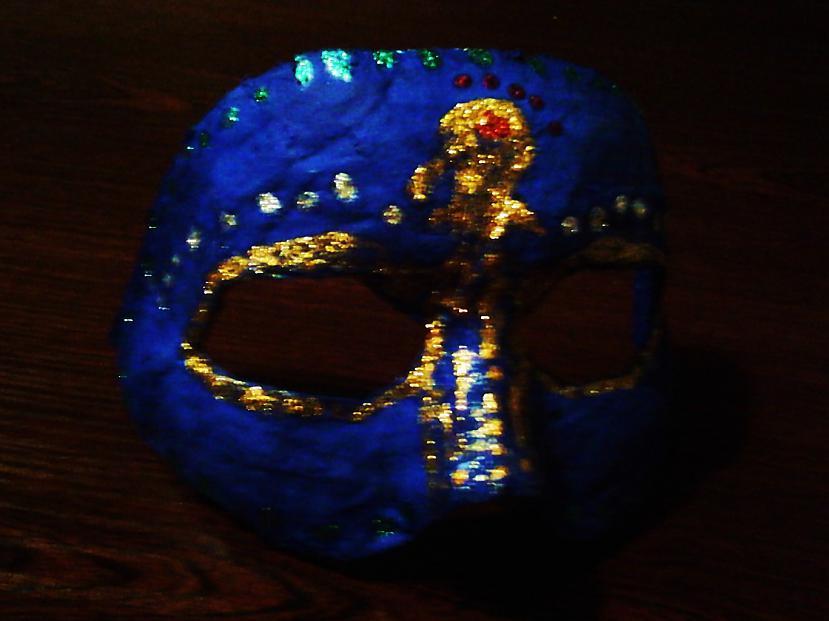 Vispirms nokrāsoju masku ar... Autors: Niknā mirāža Maska karnevālam