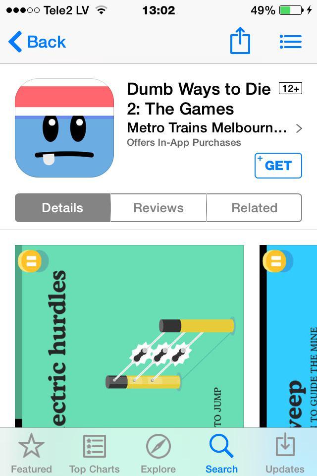dumbways to die2 visizin pirmo... Autors: Asniņš asnisb j 5 manas favorītu aplikacijas Decembrī