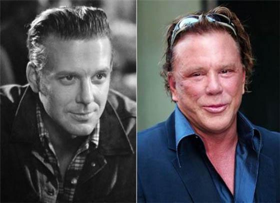 Mickey RourkeSlavens aktieris... Autors: Lords Lanselots Slavenību plastiskās operācijas - pirms un pēc!