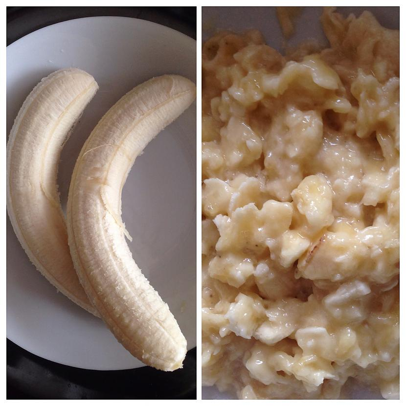 Ar dakšiņu saspaidam banānu Autors: annnija Auzu pārslu-banānu cepumi.