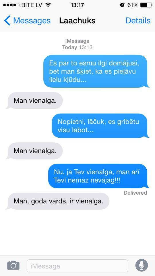 Autors: rihcaa SMS pērles - kādreiz mums bija attiecības !