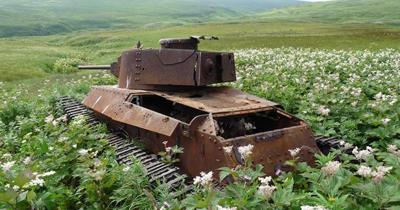 Atrascaronanās vieta Krievija Autors: LVspoks Dabas pārņemtie tanki