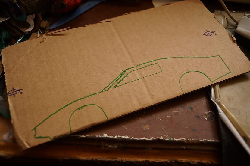 Autors: VOVASFILMAS Plastilīna K.I.T.T. (Knight Rider). 20x9 cm