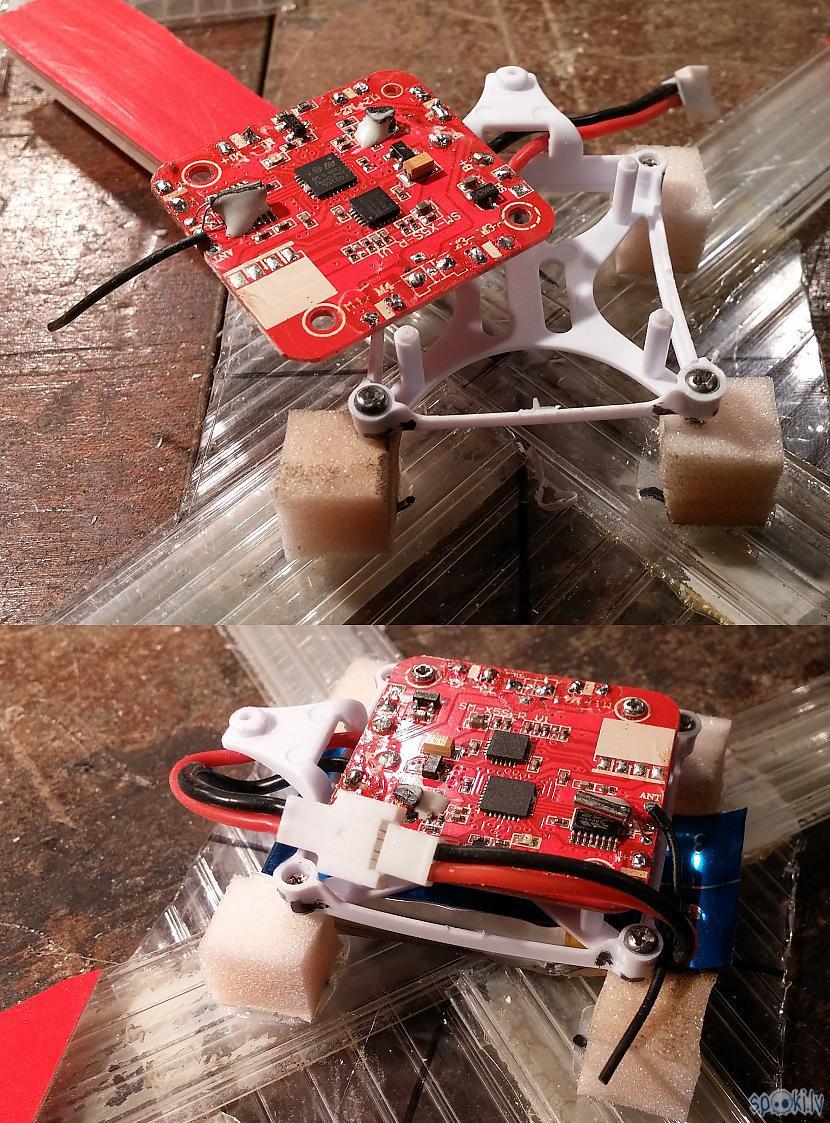 Plates stiprinājumu lietoju no... Autors: SalvatoreMundi Pašsalikts kvadkopteris (meklēšanai portālā: drons, quadcopter)