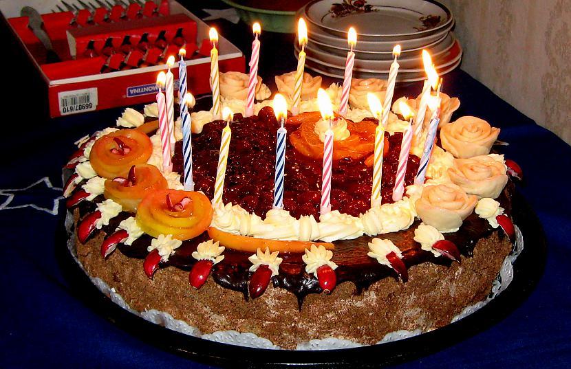 Tā pati torte ar svecītēm Autors: rasiks Dzimšanas dienai (1)