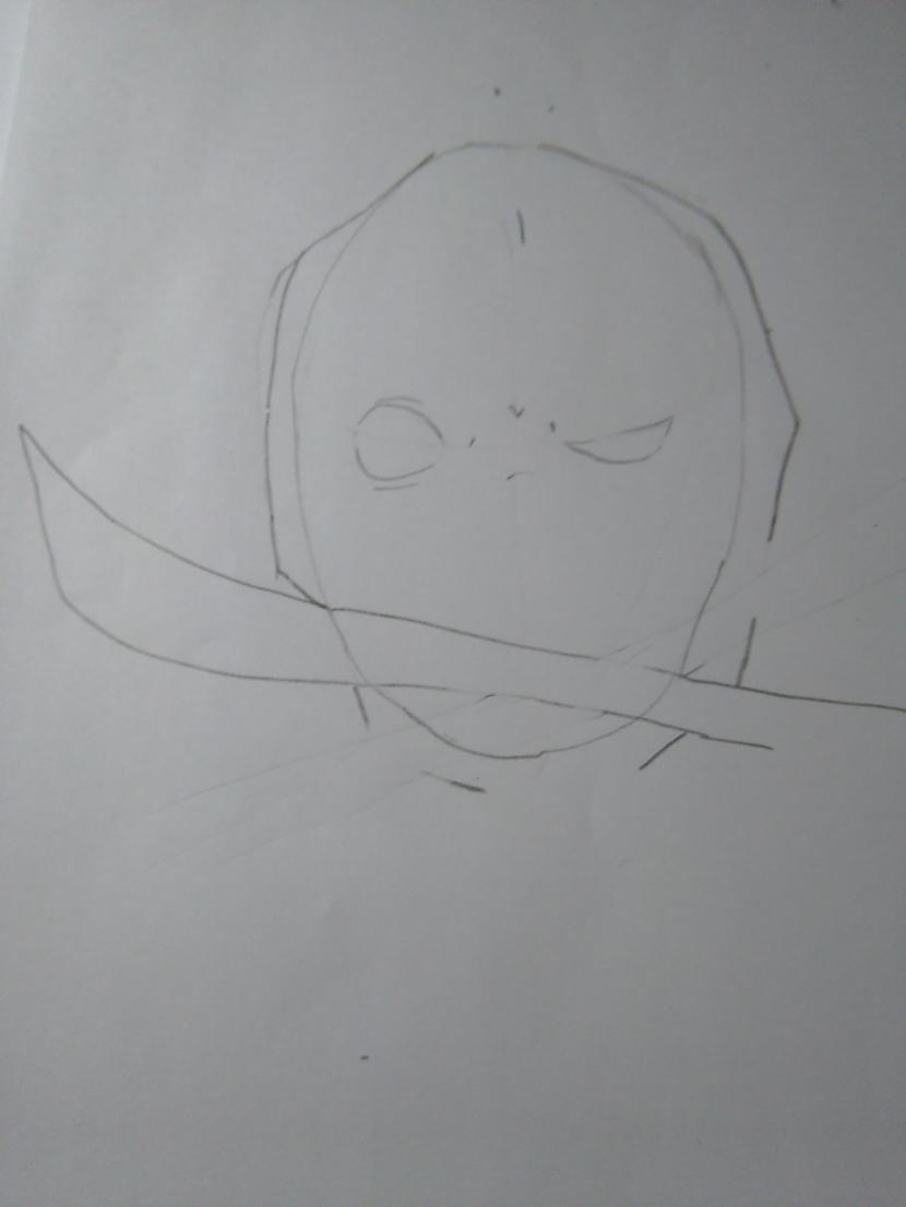 """Zīmējam zobenu caur brīvajām... Autors: Fosilija """"Deadpool""""soli pa solim."""