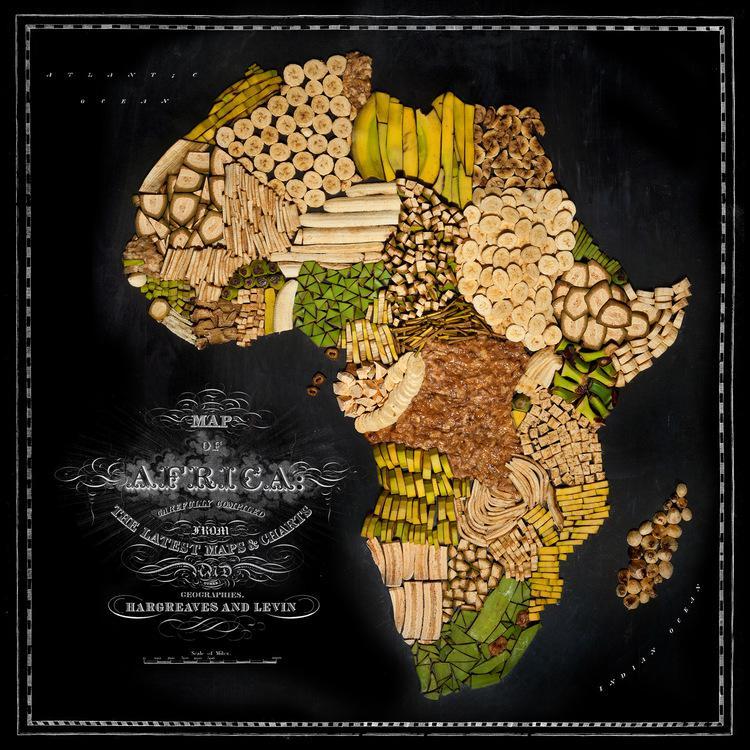 Āfrika  Banāni amp plantāni Autors: Sarius Viņi pārvērta ikoniskus ēdienus valstu un kontinentu kartēs.