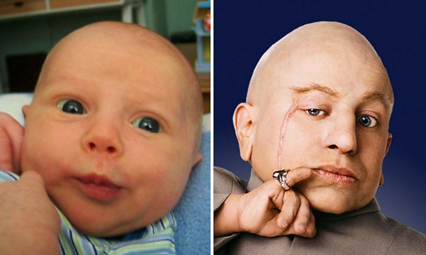 Autors: matilde 10+ mazuļi, kuri ir līdzīgi slaveniem cilvēkiem