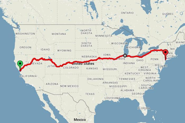 Ceļot no krasta līdz krastam... Autors: bananchik Šķērsojam Ameriku ar vilcienu