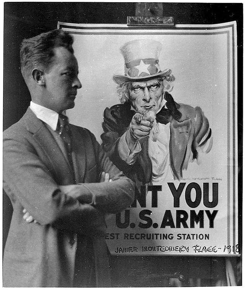 Tēvocis Sems tevi grib armijā... Autors: Lestets Vēsturiskas bildes, kurām vajag paskaidrojumu