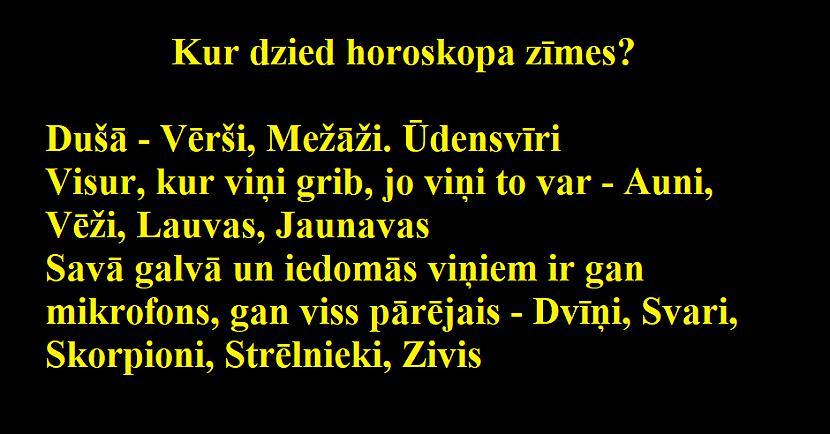 Autors: Latvian Revenger Raksturīgākās horoskopa zīmju iezīmes