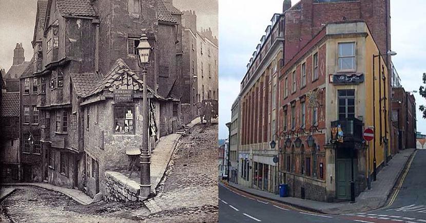 Autors: Lestets Kādas ielas krustojums Bristolē 1866./2018. g.