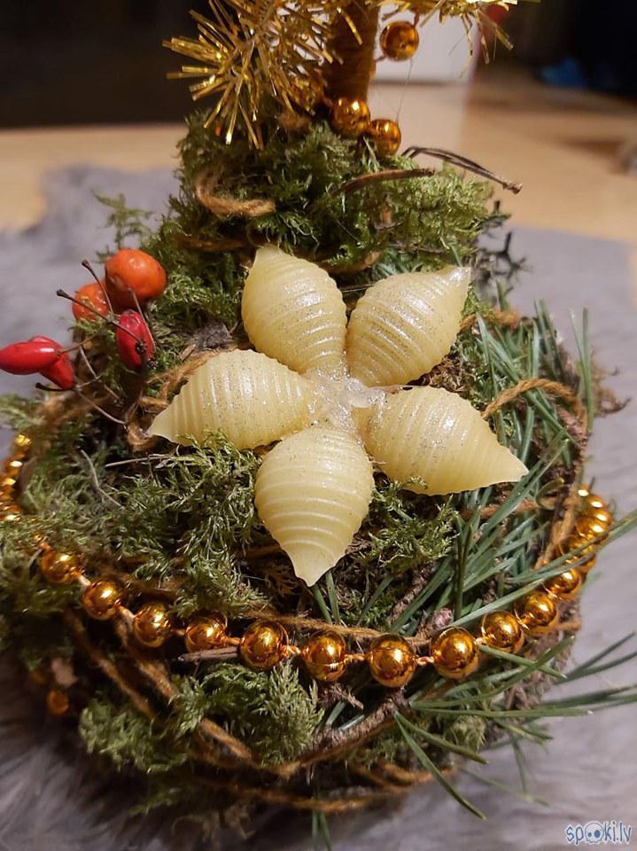 Makaronu sniegpārsliņa bija... Autors: The Diāna Ziemassvētku svečturis paša spēkiem
