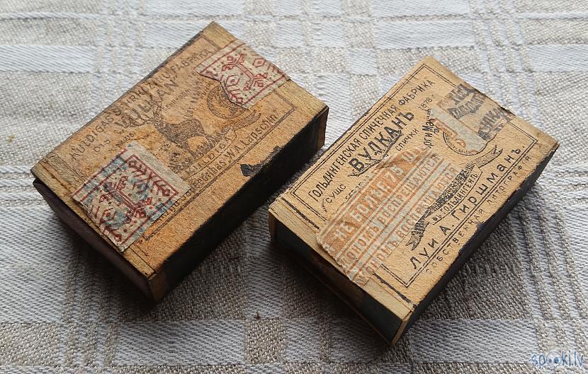 """Kādreiz arī par sērkociņiem... Autors: pyrathe Mana """"Vulkāna"""" sērkociņu kastīšu kolekcija"""