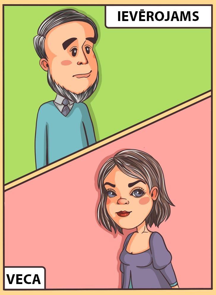 Vecākiem vīriescaroniem sirmie... Autors: Lestets 10 dubulto standartu piemēri, ar kuriem mēs dzīvojam