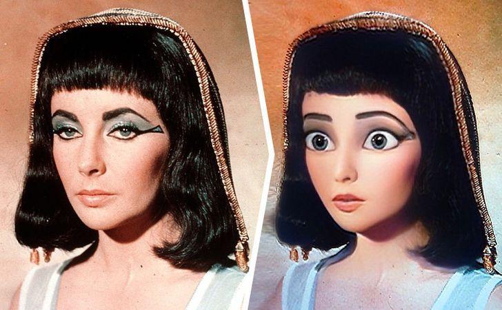 Kleopatra laquoCleopatraraquo Autors: matilde Kā izskatītos 18 filmu un seriālu tēli, ja tie būtu «Disney» multfilmās