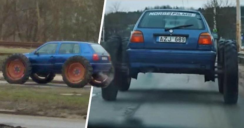 Par neatbilstību tehniskajiem... Autors: matilde Lietuvā sodīts autovadītājs par braukšanu ar ekstravagantu auto