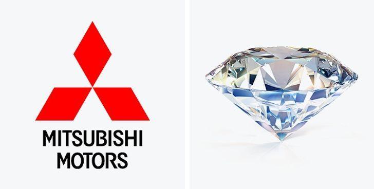 MitsubishiScaronis logo... Autors: The Diāna 11 apslēptas simboliskas nozīmes pasaulslavenos logo