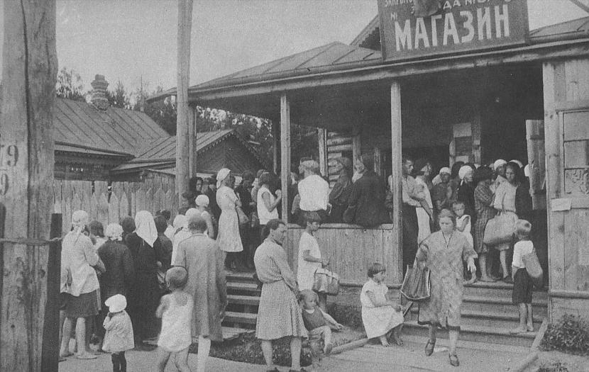 Lauku apģērbu veikals Rindas... Autors: Lestets PSRS 1930-to gadu dzīve