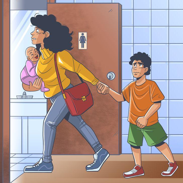 Sievietes iet uz tualeti ar... Autors: Lestets Kāpēc sievietēm ir ilgāk jāgaida rindā uz tualeti?