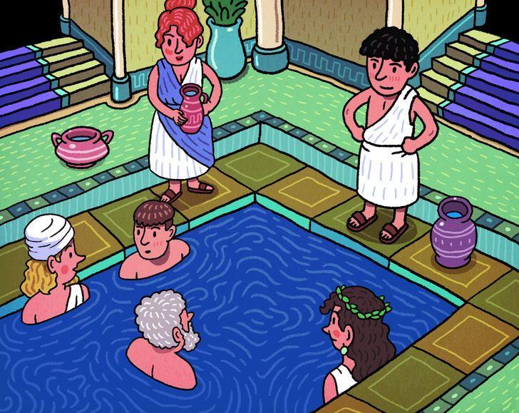 """Tās bija publiskasSākot ar... Autors: Lestets 10 fakti par senajām """"atpūtas telpām"""" jeb tualetēm un vannasistabām"""