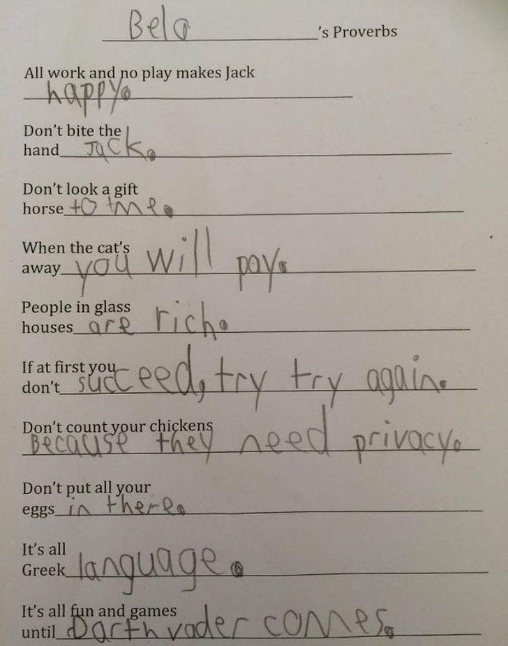 PēdējaisIedrukāts Viss ir... Autors: The Diāna 20 reizes, kad bērnu izdoma mājasdarbu pildīšanā bija patiešām smieklīga