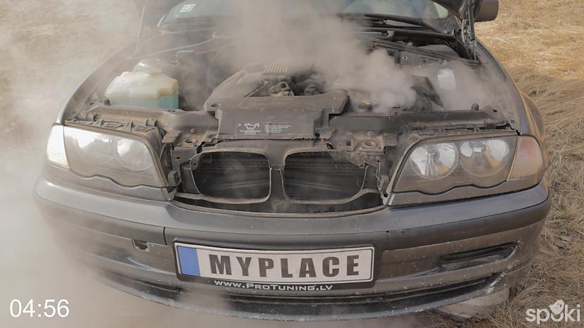 Dzinējs atmetējā nostrādāja... Autors: MyPlace Tā nebija prātīga doma / BMW e46 aizdegās / AUTOVLOGS #11