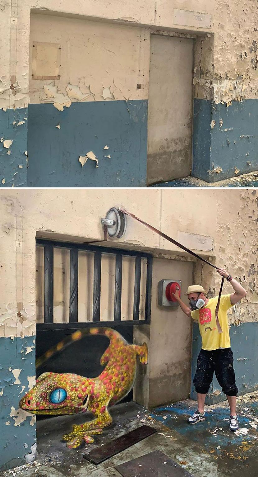 Autors: Zibenzellis69 Jaunā franču ielu mākslinieka SCAF hiperreālistisks grafiti (30 fotoattēli)