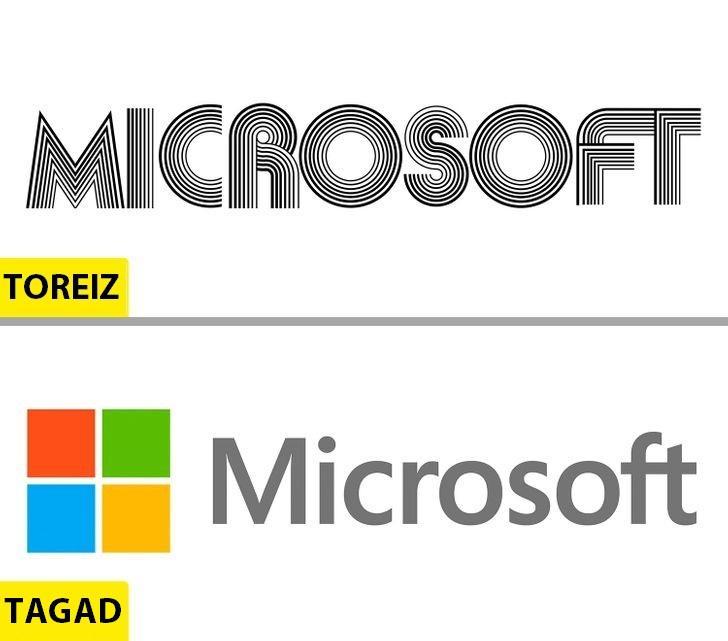 MicrosoftPirmais logo... Autors: Lestets Kā pēdējo 50 gadu laikā ir mainījušies slavenu brendu logo?