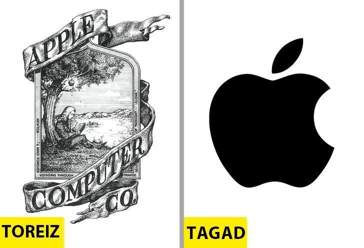 AppleSlavenajam Apple ābolam... Autors: Lestets Kā pēdējo 50 gadu laikā ir mainījušies slavenu brendu logo?
