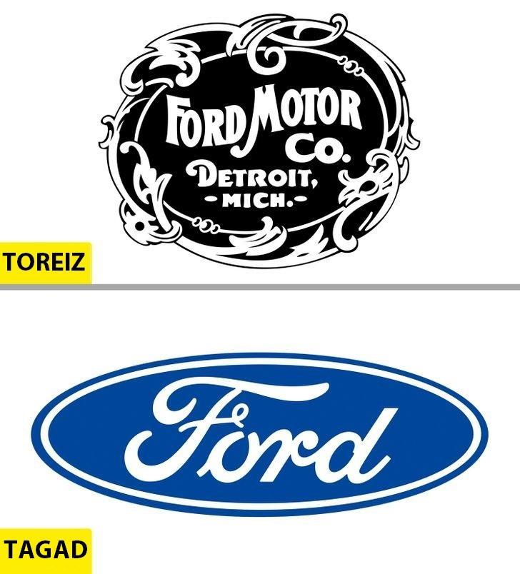 FordKompānija ir dibināta 1903... Autors: Lestets Kā pēdējo 50 gadu laikā ir mainījušies slavenu brendu logo?